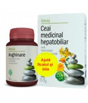 Alevia - Pachet Promo Anghinare si ceai Hepatobiliar 50cps - 60gr