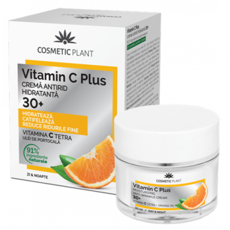 Cremă antirid hidratantă 30+ Vitamin C Plus 50 ml - Cosmetic Plant