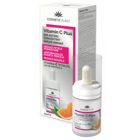 Ser antirid concentrat uleios Vitamin C Plus 15 ml - Cosmetic Plant