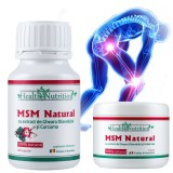 Pachet M.S.M Natural 180 capsule + crema 200ml - HealthNutrition