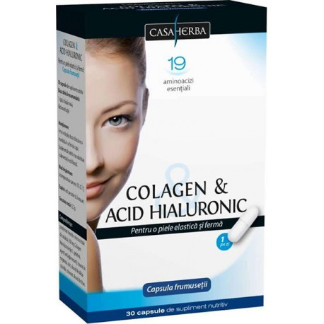 Colagen cu Acid Hialuronic Clasic 30 tablete - Interherb