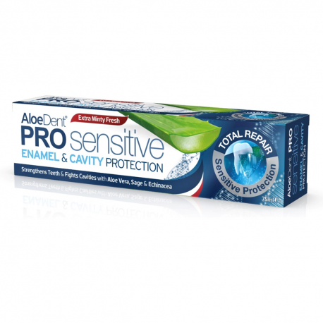 AloeDent® Pro Sensitive Enamel & Cavity Protection pasta de dinti cu Flour 75ml - Optima