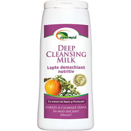 Deep Cleansing Milk - lapte demachiant nutritiv 200ml - Ayurveda