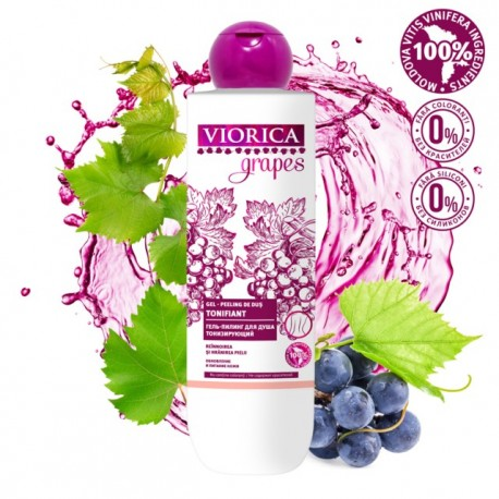 Gel de dus tonifiant cu peeling 300 ml - VIORICA GRAPES