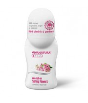 Deodorant natural roll-on Spring Zambila si Tuberoza, 50 ml - VivaNatura