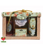 SET CADOU FRENCH ROSE LUXURY 4 PIESE - VILLAGE