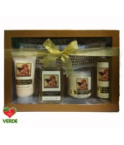 SET CADOU FRENCH CLASSIC ANGEL VANILLA AND ROSE PETALS 5 PIESE - VILLAGE