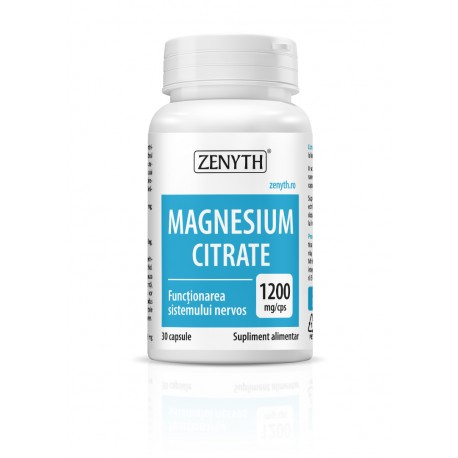 Magnesium Citrate 1200 mg/cps 30 capsule - Zenyth